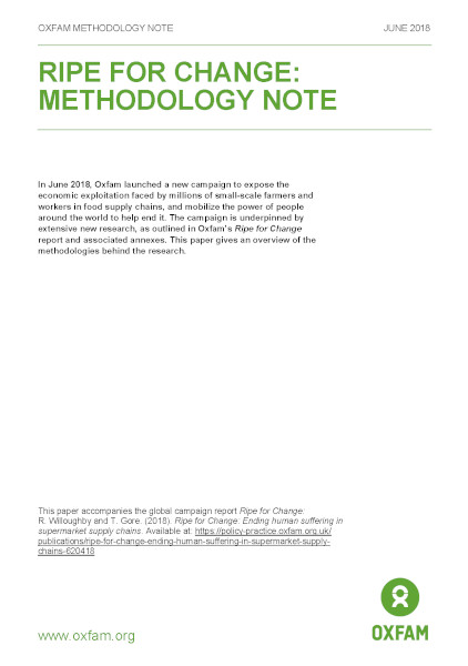 Ripe for Change: Methodology note