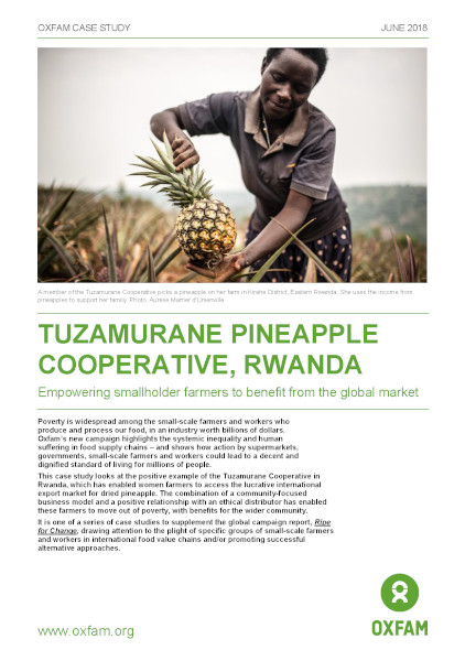 Tuzamurane Pineapple Cooperative, Rwanda: Empowering small-scale farmers to benefit from the global marke