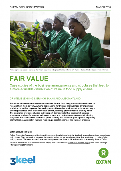 Fair Value: Case studies