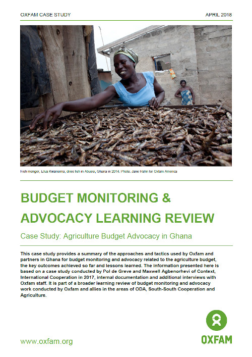 Agriculture Budget Advocacy case study